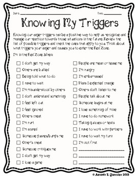 Knowing My Triggers