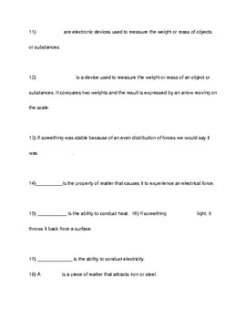 Knowing Science Physical Science Test PDF