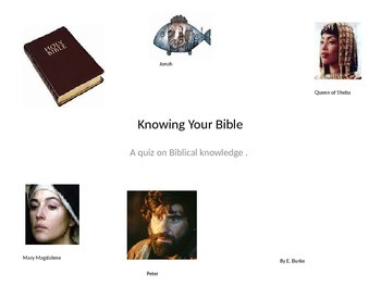 Knowing Your Bible
