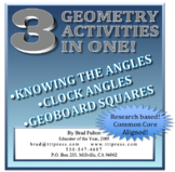 Knowing the Angles: Three Geometry Activities in One!