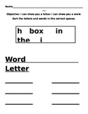 Knowing the Differnce between a Letter and a Word