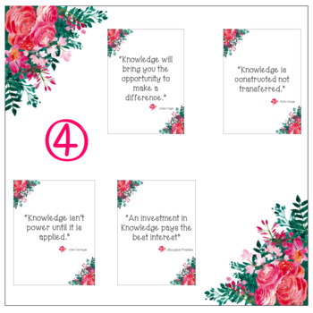 Floral Knowledge Quotes {FREEBIE}