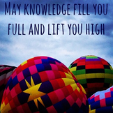 Knowledge Motivational Photo for Classrooms