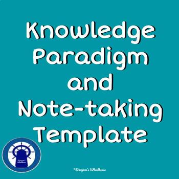Knowledge Paradigm and Note-Taking Template for All Subject Areas