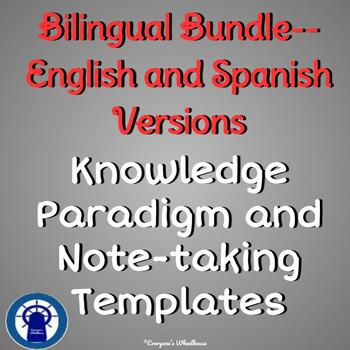 Knowledge Paradigm and Note-Taking Template for All Subjects Bilingual Bundle