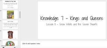 Knowledge Unit 7 CKLA Kings and Queens Kindergarten