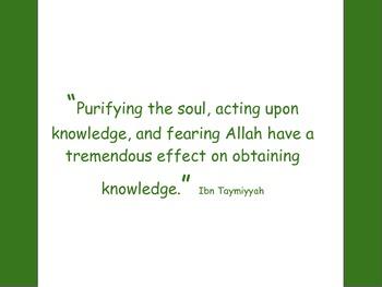 Knowledge by Ibn Taymiyyah