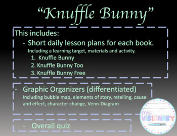 Knuffle Bunny 3 Book Series Daily Lesson Plans And Materials By Msvisionary