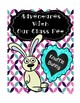 "Knuffle Bunny ""Class Pet"" Journal and Student of the Week Activities"