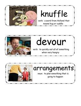 Knuffle Bunny, Knuffle Bunny Too, and Knuffle Bunny Free Vocabulary Cards