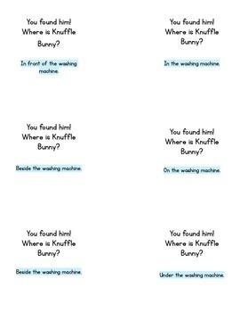 Knuffle Bunny Positional Word Game & Book Companion