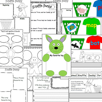 Knuffle Bunny book study unit and craftivity