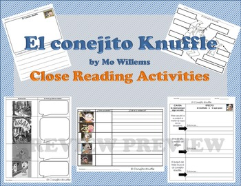 Knuffle Bunny by Mo Willems Close Reading Activities (SPANISH)