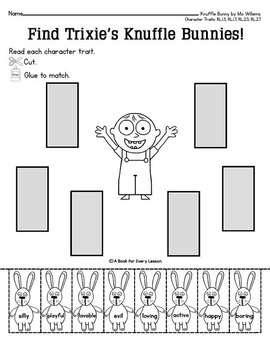 Knuffle Bunny by Mo Willems - a three tale unit