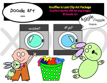 Knuffles is Lost Clipart Pack