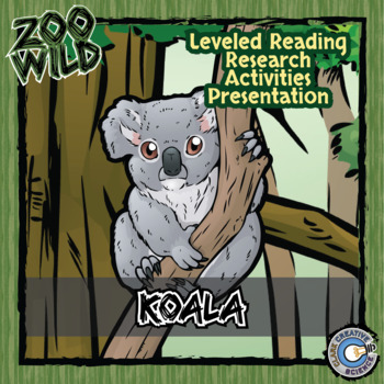 Koala -- 10 Resources -- Coloring Pages, Reading & Activities