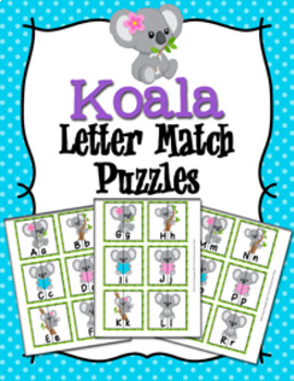 Koala Alphabet Letter Match Puzzles