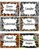 Koala Animal Print Job Labels