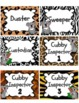 Koala Animal Print Job Labels