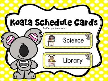 Koala/Australian Animals Schedule Cards
