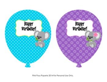 Koala Birthday Balloons