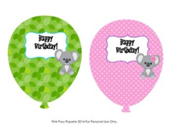 Koala Bear Birthday Balloons