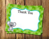 Koala Boy Flat Thank You Note Cards