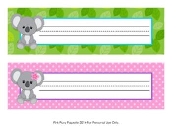 Koala Bear Desk Name Plates
