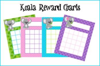 Koala Bear Incentive Reward Charts