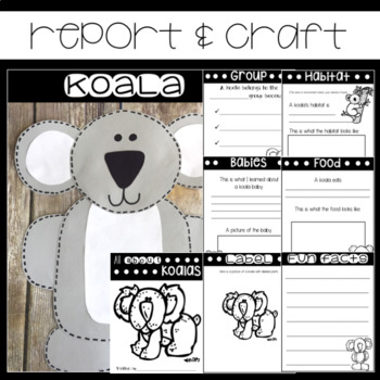 Koala Bear Non-fiction Mini Unit
