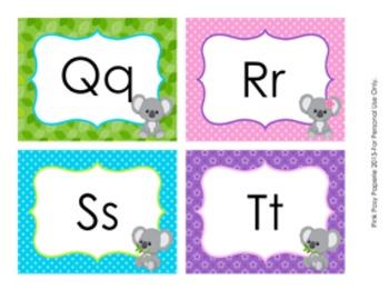 Koala Word Wall Headers