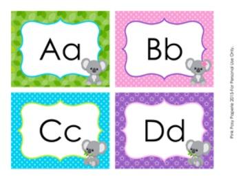 Koala Bear Word Wall Headers