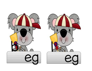 "Koala Bear ""short e"" CVC Words"