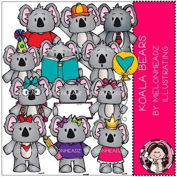 Koala Bears clip art - COMBO PACK - Melonheadz Clipart