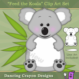 "Koala Clip Art / Koala Frame: ""Feed the Koala"" Clipart Set"