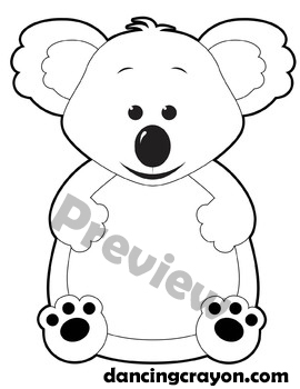 koala clip art koala frame feed the koala clipart set tpt rh teacherspayteachers com koala clipart transparent koala clipart free