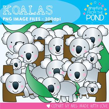 Koala Clipart Set