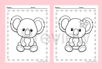 Koala Coloring Pages - 8 Designs