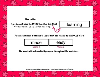 Koala - Editable Word Worksheet w/ Theme Focus