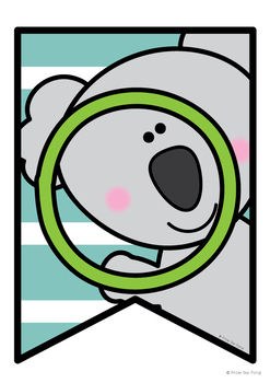 Koala Facts Banner {Bunting, Garland, Pennant Display}
