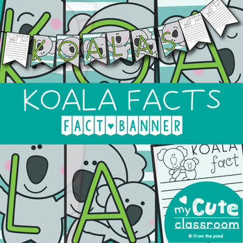 Informational Writing - Koala Facts Banner {Bunting, Garland, Pennant Display}