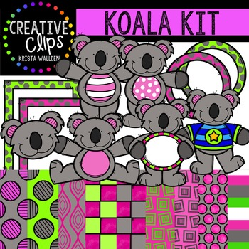 Koala Kit {Creative Clips Digital Clipart}