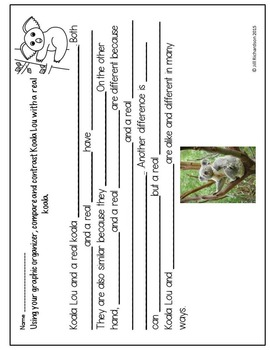 Koala Lou Book Companion (Paired Text!) ESL Resources