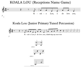 Koala Lou Olympic Games Drama and Music Activities