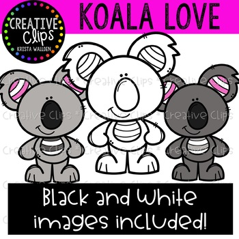 Koala Love {Creative Clips Clipart}
