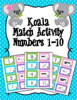 Koala Number Match Activity