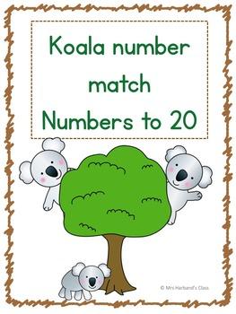 Numbers to 20 Cute Koalas