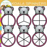 Koala Spinners Clip Art