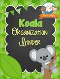 Koala Student Organization and Parent Communication Binder {personalize it}
