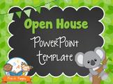 Koala Theme Open House ~ Back-to-School ~ PowerPoint Template {personalize it}